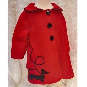 Darwin & Delilah Handmade Red Swing Coat